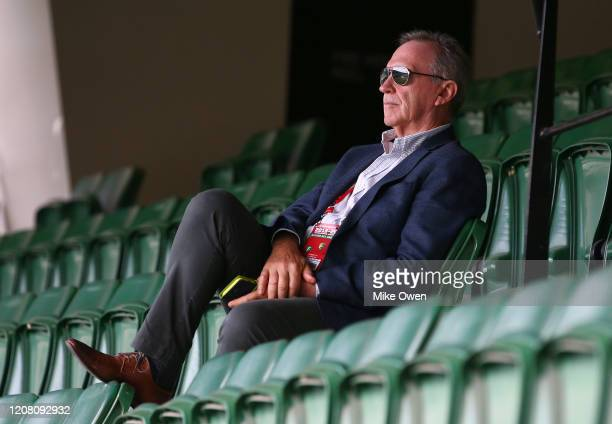 Australian cricket selector Trevor Hohns is seen during the Four Day match between Australia A and the England Lions at Melbourne Cricket Ground on...