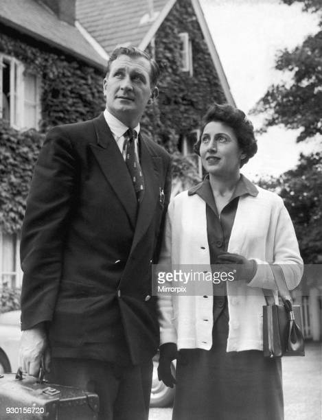 Australian cricket tour of England for the Ashes England v Australia Fourth Test match at Old Trafford Jim Laker and his wife Lilly leave their hotel...