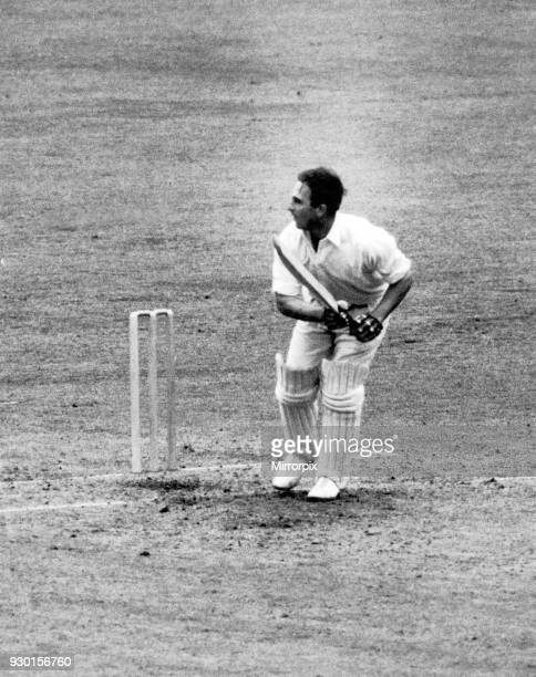 Australian cricket tour of England for the Ashes England v Australia Third Test match at Old Trafford Denis Compton gets Bill Johnston away for a...