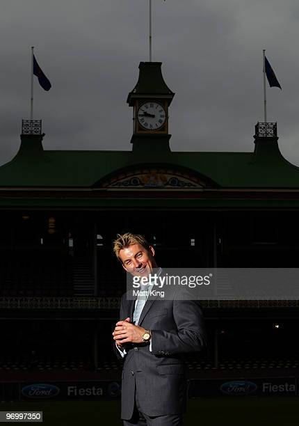 Australian cricketer Brett Lee poses after a press conference to announce his retirement from Test match cricket at the Sydney Cricket Ground on...