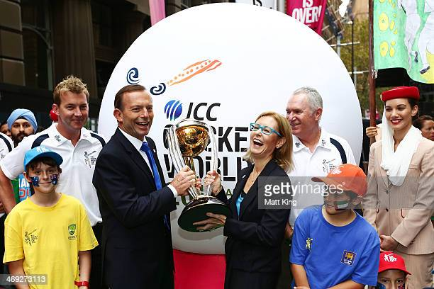 Australian cricketer Brett Lee The Australian Prime Minister Tony Abbott Minister for Sport and Recreation Gabrielle Upton and former Australian...
