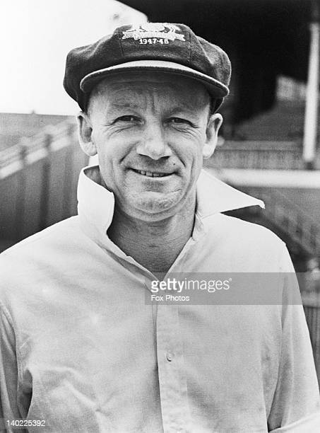 Australian cricketer Don Bradman February 1948