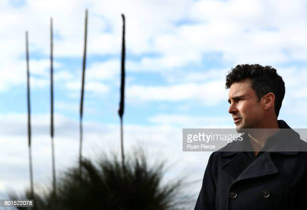 Australian Cricketer Ed Cowan speaks to the media during the Australian Cricketers' Association Golf Day at New South Wales Golf Club on June 27 2017...