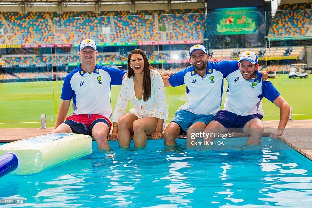 Commonwealth Bank Day-Night Test Gabba Pool Deck Launch : Nachrichtenfoto