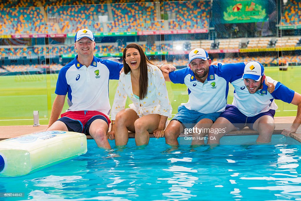 Commonwealth Bank Day-Night Test Gabba Pool Deck Launch : News Photo
