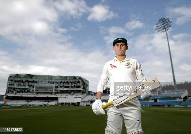 Australian Cricketer Marnus Labuschagne poses for a portrait at Headingley on August 20 2019 in Leeds England