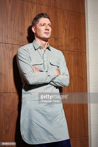 Australian cricketer Michael Clarke poses during an exclusive interview with HT BrunchHindustan Times on September 14 2017 in Mumbai India