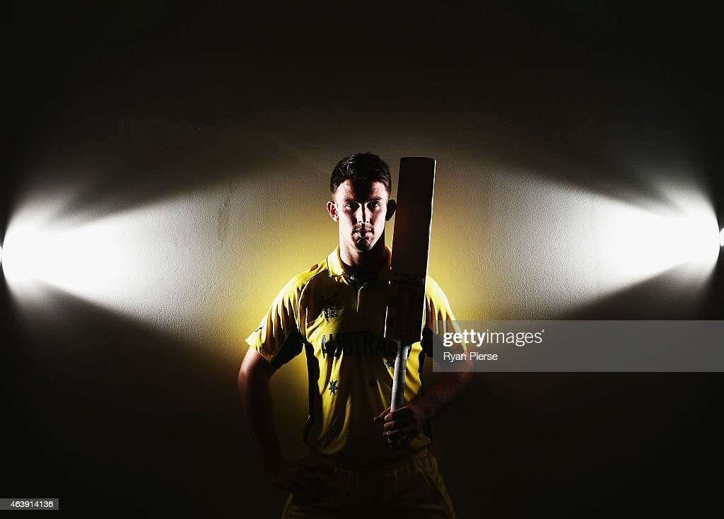 Australian cricketer Mitch Marsh poses during a portrait session at the Bupa National Cricket Centre on February 20, 2015 in Brisbane, Australia.
