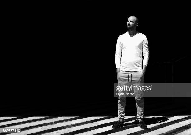 Australian Cricketer Nathan Lyon poses during a portrait session in Surry Hills on October 12 2017 in Sydney Australia