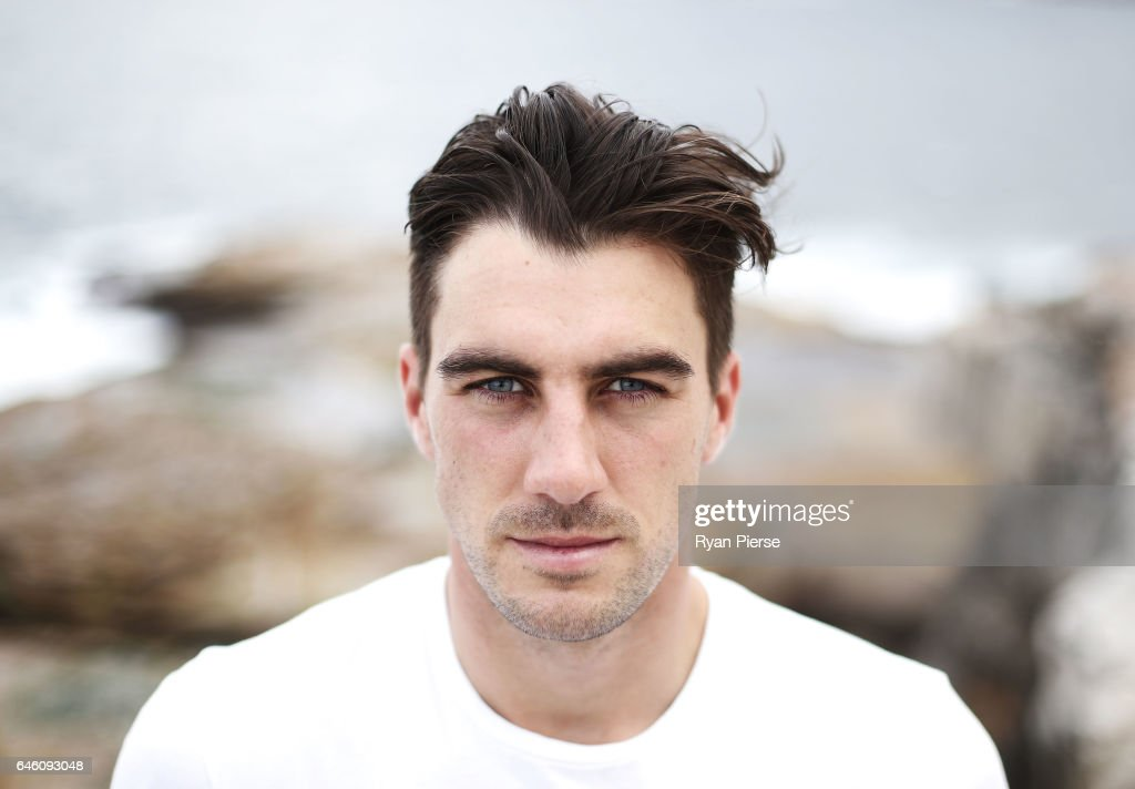 Australian Cricketer Pat Cummins poses during a portrait session at Bronte Beach on February 28, 2017 in Sydney, Australia.