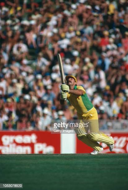Australian cricketer Rod Marsh batting in a World Series Cricket match Australia circa 1978