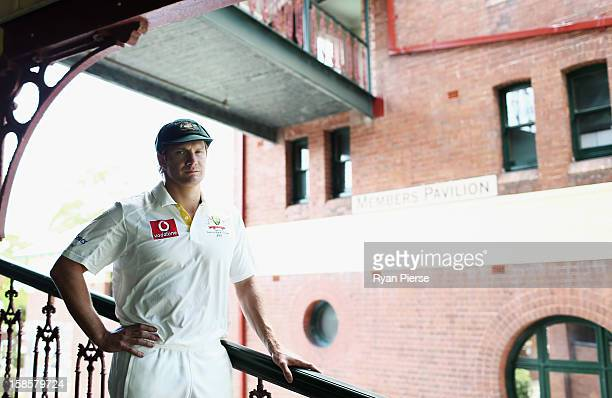 Australian cricketer Shane Watson poses during a portrait session at the Sydney Cricket Ground on December 20 2012 in Sydney Australia