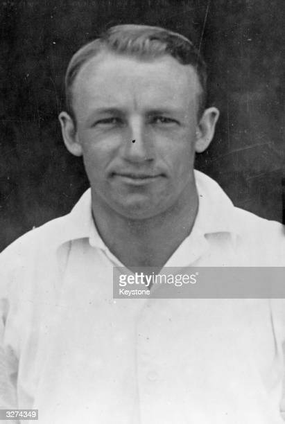 Australian cricketer Sir Donald George Bradman who became the first player to be knighted for his services to cricket when he received the honour in...