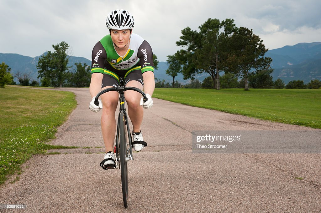 Australian Cyclist, Anna Meares poses during a portrait shoot at Memorial Park on August 1, 2015 in Colorado Springs, Colorado.