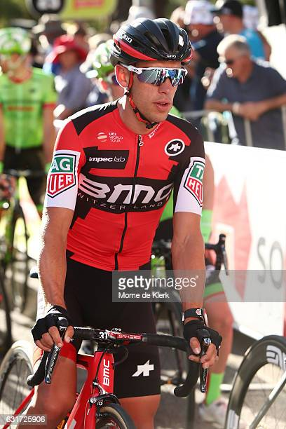 Australian cyclist Richie Porte of the BMC Racing team prepare for the People's Choice Classic street race a preview race to the 2017 Tour Down Under...