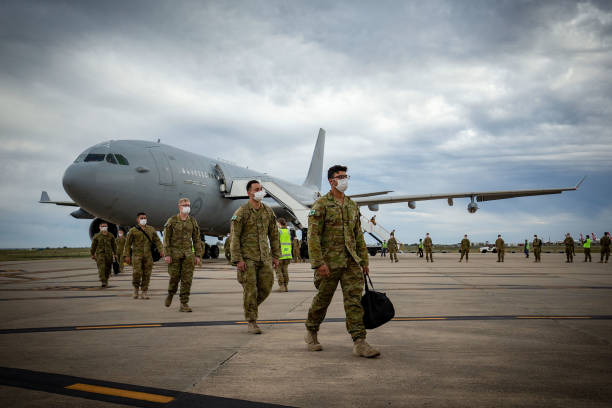 AUS: Australian Defence Force Troops Arrive In Victoria To Assist In COVID-19 Response