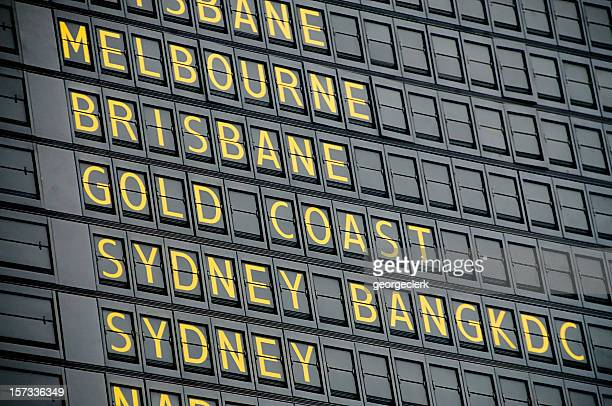 australian departure board - arrival stock pictures, royalty-free photos & images