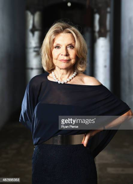 Australian designer Carla Zampatti poses for a portrait ahead of MercedesBenz Fashion Week Australia 2014 on April 6 2014 in Sydney Australia...