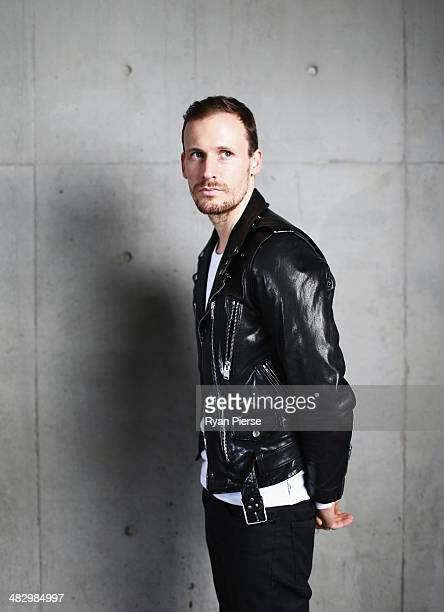 Australian designer Dion Lee poses for a portrait ahead of MercedesBenz Fashion Week Australia 2014 on April 6 2014 in Sydney Australia MerecedesBenz...