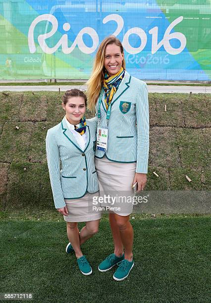 Australian Diver Melissa Wu and Australian Beach Volleyballer Nicole Laird who are the shortest and tallest members of the Australian Olympic Team...