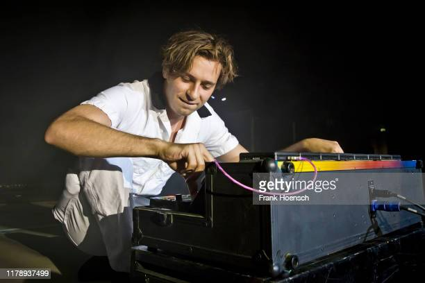 Australian DJ Harley Edward Streten aka Flume performs live on stage during a concert at the Tempodrom on October 29 2019 in Berlin Germany