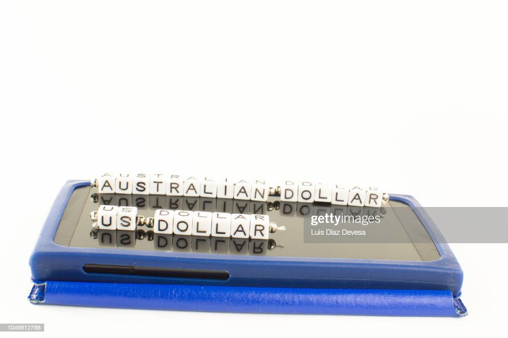 Australian Dollar Aud To Usd Currency Converter Stock Photo
