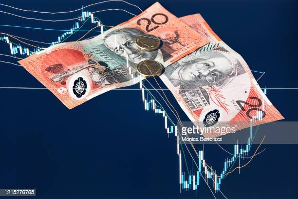 australian dollars and financial market crash - bailout stock pictures, royalty-free photos & images