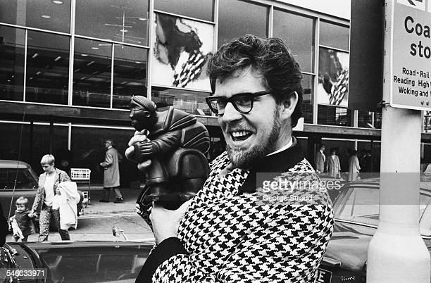 Australian entertainer Rolf Harris at London Airport 1967
