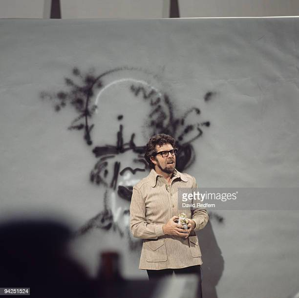 Australian entertainer Rolf Harris performs on a television show circa 1970