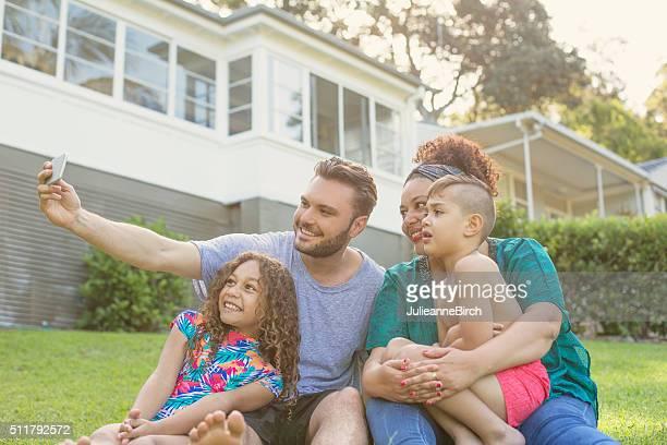 Australian family taking a selfie