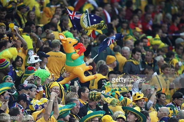 Australian fans enjoy the atmosphere ahead of the 2010 FIFA World Cup South Africa Group C match between USA and Algeria at the Loftus Versfeld...