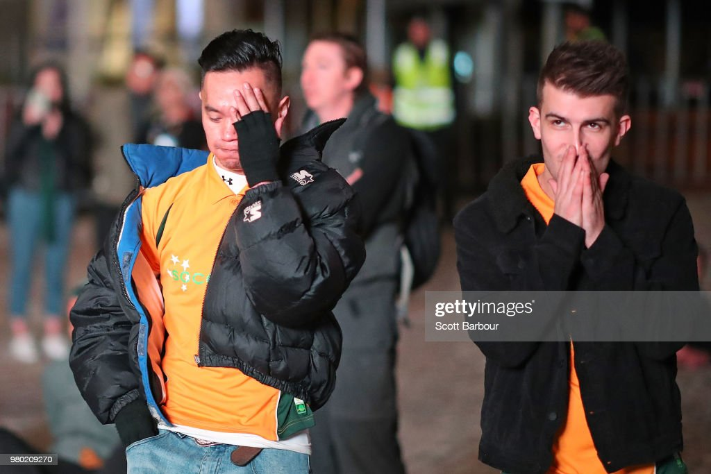 Fans Watch FIFA World Cup In Melbourne