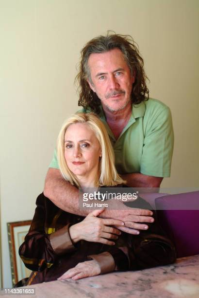 Australian fashion designer Richard Tyler with his business partner and wife Lisa Trafficante sit in the dining room of the large home they have...