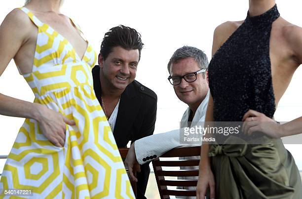 Australian fashion designers Alex ZabottoBentley left and Jayson Brunsdon are taking their designer clothes to China 18 October 2006 SHD Picture by...