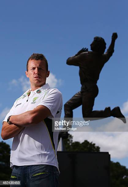 Australian fast bowler Peter Siddle poses after a media session during day one of the Sheffield Shield match between the Victoria Bushrangers and the...