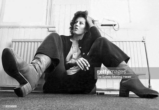 Australian feminist author Germaine Greer, 1970s.