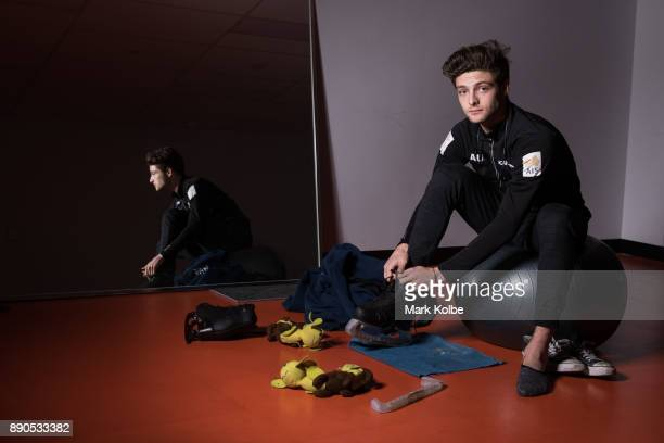 Australian figure skater Brendan Kerry poses during a portrait session at the Macquarie Ice Rink on December 11 2017 in Sydney Australia