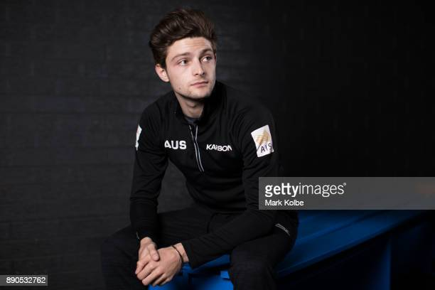 Australian figure skater Brendan Kerry poses during a portrait session on December 11 2017 in Sydney Australia