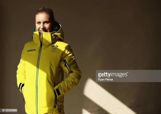 Australian Figure Skater Ekaterina Alexandrovskaya poses during previews ahead of the PyeongChang 2018 Winter Olympic Games at Alpensia Ski Resort on...