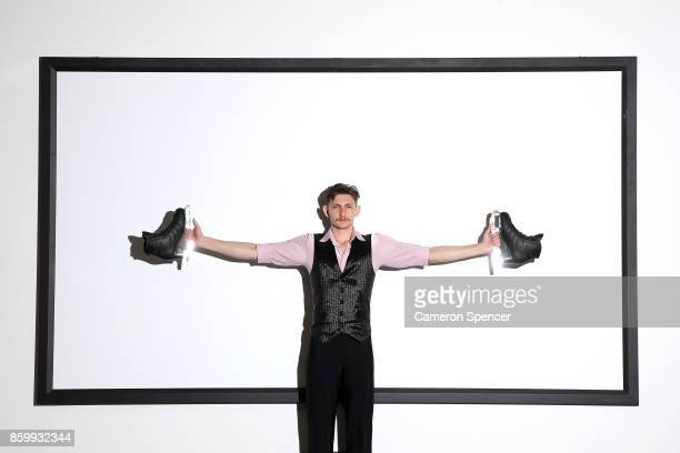 Australian figure skater Harley Windsor poses during a portrait session on August 16 2017 in Sydney Australia