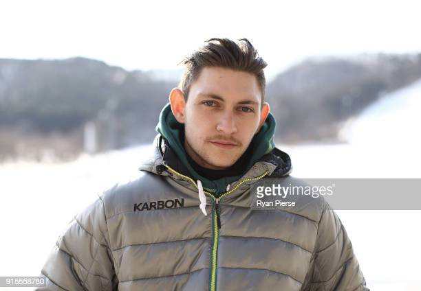 Australian Figure Skater Harley Windsor poses during previews ahead of the PyeongChang 2018 Winter Olympic Games at Alpensia Ski Resort on February 8...