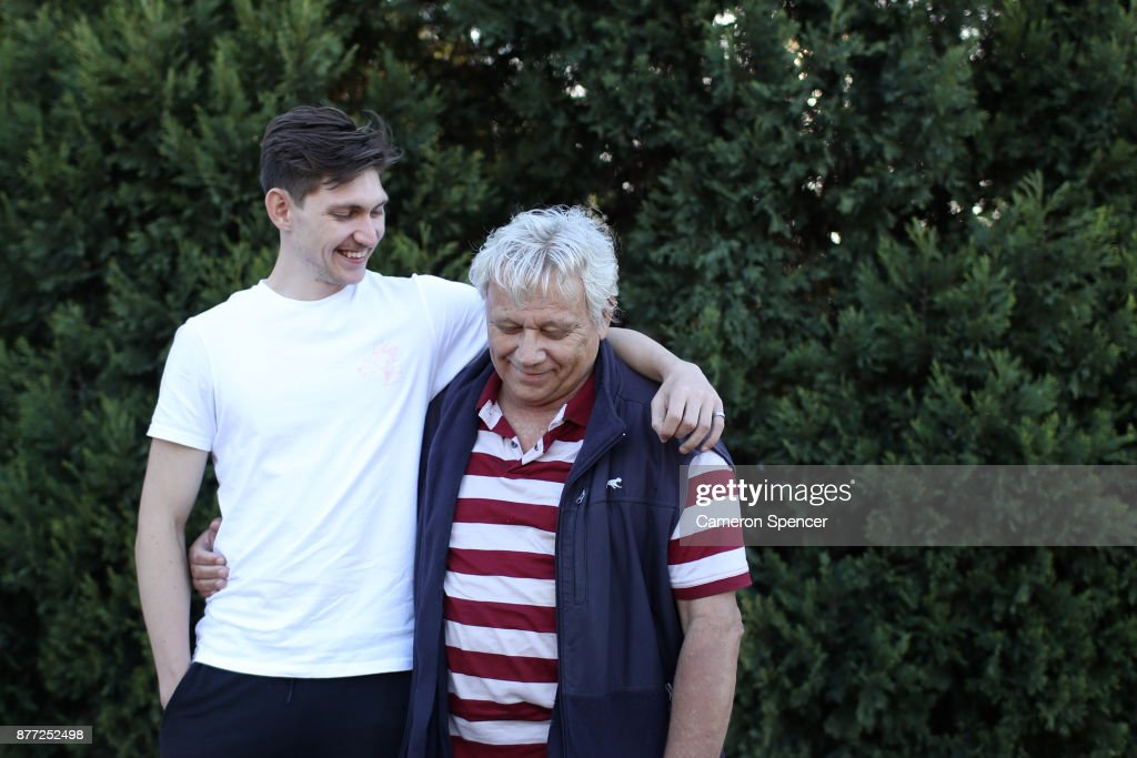 Australian Figure Skater Harley Windsor Poses With His Father Peter Dahlstrom At His Home In Rooty