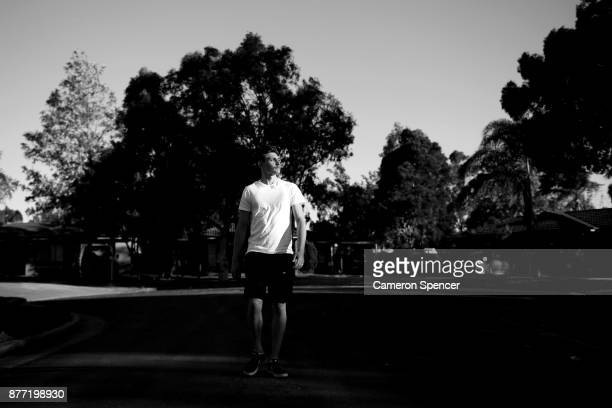 Australian figure skater Harley Windsor walks down the street near his home in Rooty Hill on August 16 2017 in Sydney Australia Windsor will become...