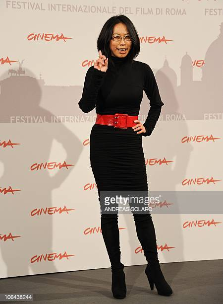 Australian film director YuHsiu Camille Chen poses during the photocall of Little Sparrows at the 5th Rome Film Festival in Rome on November 2 2010...