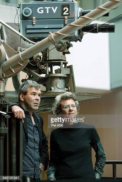 Australian film directors Ana Kokkinos 'The Book Of Revelation' and 'Head On' and Paul Goldman 'Suburban Mayhem' and 'Australian Rules' at the launch...