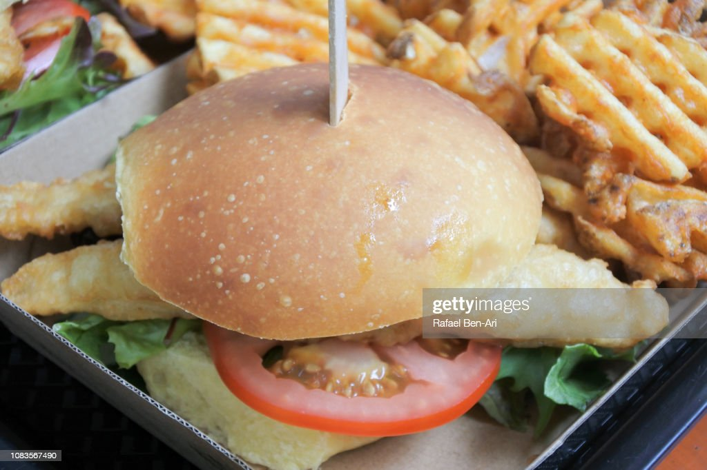 Australian Fish Burger : Stock Photo