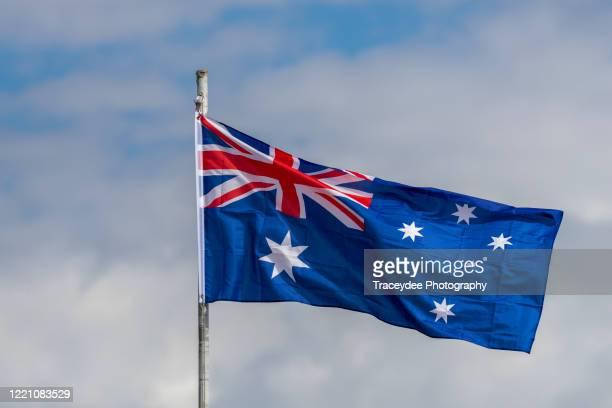 australian flag - australian flag stock pictures, royalty-free photos & images
