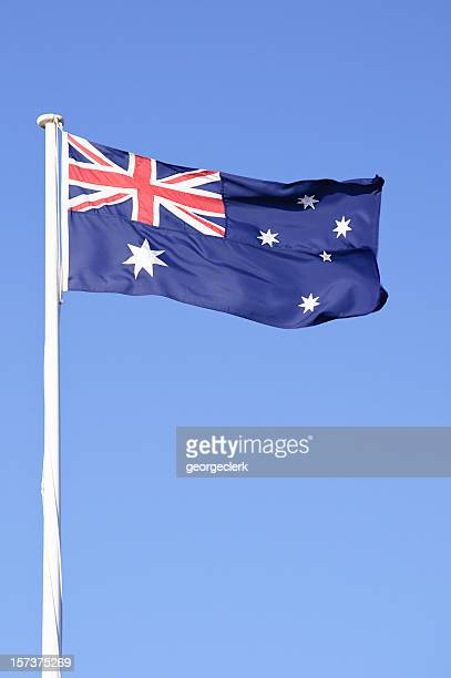 australian flag - vertical - australian flag stock pictures, royalty-free photos & images
