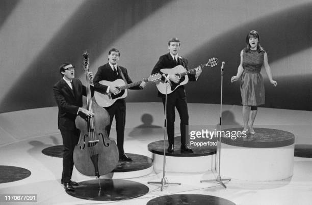 Australian folk group The Seekers perform on an episode of The Arthur Haynes Show for Associated Television in March 1966. Members of The Seekers...
