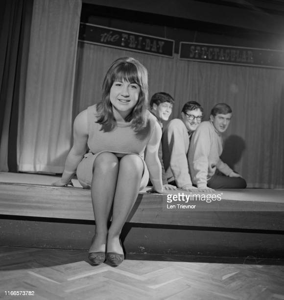 Australian folk-pop quartet The Seekers on the EMI plug show The Friday Spectacular, at EMI House, London, UK, 15th February 1965; they are Judith...